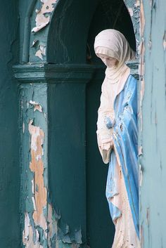 A beautiful statue of the Holy Virgin.