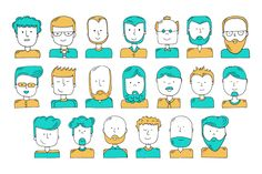 #Free #Download: Hand Illustrated Avatars by Lukas Flekal