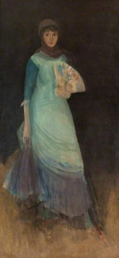 The Athenaeum - Harmony in Blue and Violet, Miss Finch (James Abbott McNeill Whistler - ), Hunterian Museum and Art Gallery - Glasgow, 1885