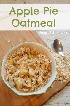 Looking for a breakfast anyone will love? This apple pie oatmeal is like dessert…