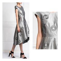 Silk shantung dress #SS18 #coricollection Shirt Dress, T Shirt, Dresses For Work, Summer, Instagram, Fashion, Supreme T Shirt, Moda, Shirtdress