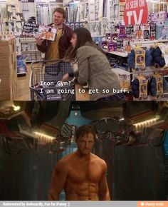Wow, He Called It. Chris Pratt, Parks and Recreation, Guardians of the Galaxy. Parks And Recreation, Parks N Rec, Parks And Rec Memes, Dc Movies, Movie Tv, Iron Gym, Hilarious, Funny Memes, Movie Memes