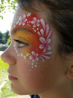 Face painting at a carnival