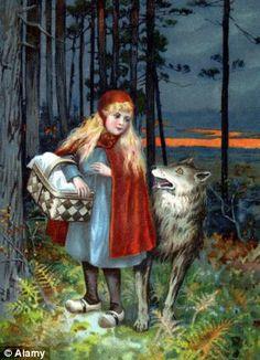Little Red Riding Hood & Wolf art