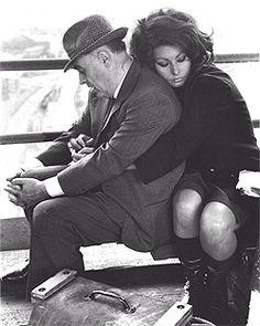 Sofia Loren & her husband Carlo Ponti