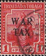 Trinidad and Tobago 1917 WAR TAX Overprint SG 180 Fine Used Scott MR5  Other Trinidad and Tobago Stamps HERE