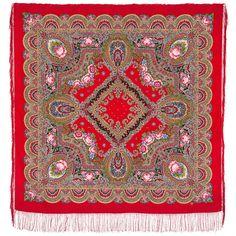 "Russian Pavlovsky Posad shawl ""Russian freedom"" ""Русское раздолье"""