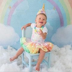 Gold Unicorn Birthday Outfit - Pastel Rainbow Unicorn Tutu Set - Pastel Unicorn - Ribbon Tutu Outfit - First Birthday Dress - Unicorn Outfit *CURRENT PRODUCTION TIME: Orders ship a FULL 3 WEEKS from purchase date. If your ship date falls on a weekend or holiday, your order will ship the