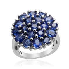 Liquidation Channel: Himalayan Kyanite Ring in Platinum Overlay Sterling Silver (Nickel Free)