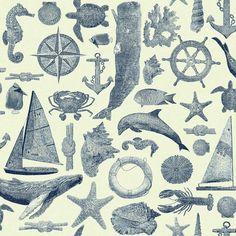 Maritime Wallpaper - White