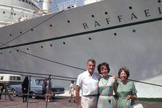 35mm Slide Italian Line Ocean Liner Raffaello 1965 Passengers