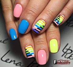 Stylish 47 Beautiful Nail Art Designs Ideas For Brides Nail Art Designs, Pedicure Designs, Colorful Nail Designs, Henna Designs, Colourful Nails, Pedicure Ideas, Pedicure Colors, Pedicure Nail Art, Nail Colors