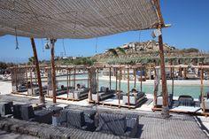 New Mykonos Day Club Opens Europe's Biggest Beachfront Pool Day Club, Nikki Beach, Beach Bars, Beach Club, Mykonos, Beach Resorts, Greece, Pergola, Europe