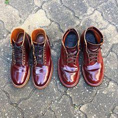Viberg 1035 last Shell Cordovan Colour 8 ปะทะ White's boots Shell Cordovan Color