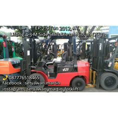 [ FOR SALE ] FORKLIFT EP 2.5 Ton, 2012, Automatic Transmission,  Lifting Height 4.3 M Side Shift, Engine Diesel Nissan QD32, Jakarta-Indonesia,  087776518465.
