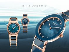 Blue Ceramic Collection; BERING watches; Women's watches