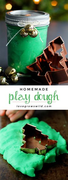 Homemade Play Dough Recipe - Learn how to make your own play dough at home in just 5 minutes with only 5 ingredients! | LoveGrowsWild.com