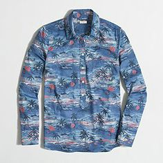 Factory printed voile popover