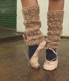 caramel pink ballet leg warmers by ileaiye on Etsy,