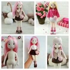Amigurumi Doll Free Pattern —Amigurumi doll crochet free pattern Amigurumi Patterns, Amigurumi Doll, Crochet Patterns, Free Crochet, Free Pattern, Teddy Bear, Dolls, Animais, Tutorials