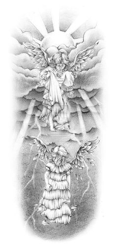 Angel Baby Tattoo Design