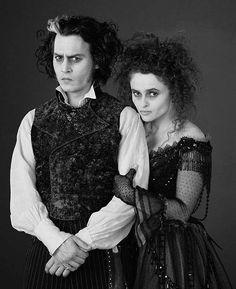 Johnny Depp and Helena Bonham Carter for Sweeney Todd:...