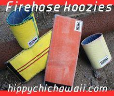 Fire Hose Projects, Fire Hose Crafts, Fire Dept, Fire Department, Firefighter Jacket, Fire Trucks, Check It Out, Gears, Conversation Pieces