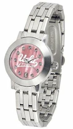UCLA Bruins NCAA Womens Dynasty Wrist Watch by SunTime. $95.95. The Dynasty - Ladies Mother of Pearl watch is an elegant design for the modern man or woman who wants to show their team spirit! The dial is presented in a sleek stainless steel case and bracelet that rests fashionably yet comfortably across the wrist. Features a convenient date display quartz accurate movement and a scratch resistant mineral crystal face.Mother of Pearl Dial OptionThe hypnotic iridescen...