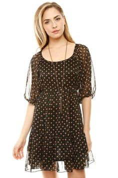 peasant polkadot dress