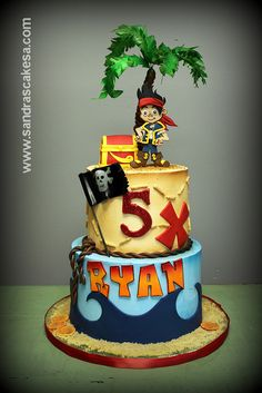 Ryan's Pirate cake by sandrascakes (trying to catch up!), via Flickr