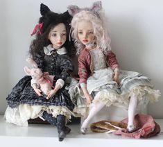 Девочки, такие девочки. Им всегда есть о чем поговорить.  Dollls by Opalkanska (Elena Oplakanskaya)
