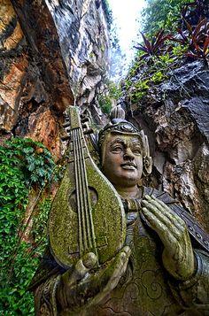 Temple Guardian . Marble Mountain . Vietnam