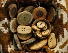 button collage - how to make wooden buttons on rav.... so pretty
