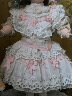~~~ Most Beautiful Childlike French Doll Dress with Bonnet ~~~ from whendreamscometrue on Ruby Lane