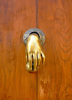 Unique Door Knocker... kind of creepy, but I love it!
