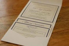 STYLE 1 - Classic Pocketfold Wedding Invitations - By Loubearandtops High quality Wedding Invitations all professionally printed and cut to perfection. We have an easy personalisation process with just a simple form for you to fill and leave the rest to us! https://docs.google.com/forms/d/1_Gbwo7EUtd_TIOEUedu6HZvXGneLtmy7yLxyyDXgaqI/edit What your Item Includes: The A6 Pocketfold Invitation Includes: Main Invitation, 2 Inserts, Pocketfold of your choice and ...