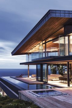 "alecsgrg: "" Family Home in South Africa features Majestic Ocean Views When it comes to designing a home that is situated near an incredible landscape, it is always a challenge to ensure the home is..."