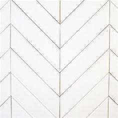 Ceramic Chevron subway tile for kitchen backsplash or bathroom tile in white color Milk