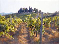 "Villa Cafaggio by June Carey LIMITED EDITION CANVAS Image size: 24""w x 18""h."