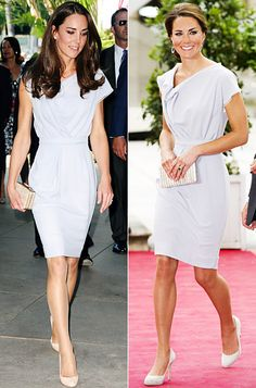 Catherine Middleton's repeat outfits: Roksanda Ilincic's Lavender Dress  We've seen Kate's lavender Roksanda Ilincic dress once before! She first wore the shift during her Canadian tour July 2011, then repeated the look almost a year later for the Creative Industries Reception in London.