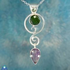Faceted Moldavite Tourmaline & Amethyst by ArkadianCollection