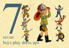 7 is for Seven Boys Play Dress Ups