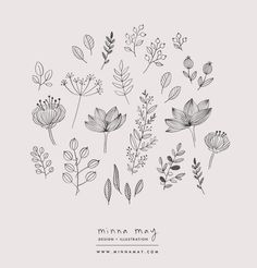 Flowers Illustration Pattern Doodles 69 Ideas For 2019 Illustration Botanique, Illustration Blume, Illustration Flower, Simple Illustration, Botanical Illustration Black And White, Botanical Line Drawing, Botanical Drawings, Illustration Sketches, Photo Illustration