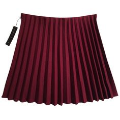 Pre-owned Theory 90879306 Mini Skirt (€125) ❤ liked on Polyvore featuring skirts, mini skirts, maroon, short skirts, wool mini skirt, purple skirt, wool skirt and maroon pleated skirt