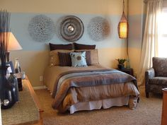 How to Pull Off Two-Toned Walls : Contemporary Bedroom Ttwo Tone Wall Painting Ideas