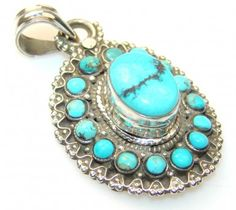 Passion Turquoise Sterling Silver Pendant