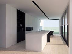 Look up many a very large number grand characteristics, flats, villas, apartments. Küchen Design, Home Design, Home Interior Design, Interior Architecture, Minimalist Kitchen, Minimalist Interior, Hidden Kitchen, Interior Minimalista, Kitchen Installation