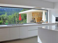 Kitchen Room Design, Kitchen Family Rooms, Modern Kitchen Design, Interior Design Kitchen, Küchen Design, House Design, Black Kitchen Countertops, Casa Top, House Extension Design