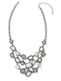 Alluring Faceted Gems Necklace $32 http://www.cookielee.biz/MaureenLedon
