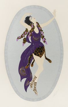 Artist: ERTE; Title: ''Grape Lady''; Medium: Serigraph